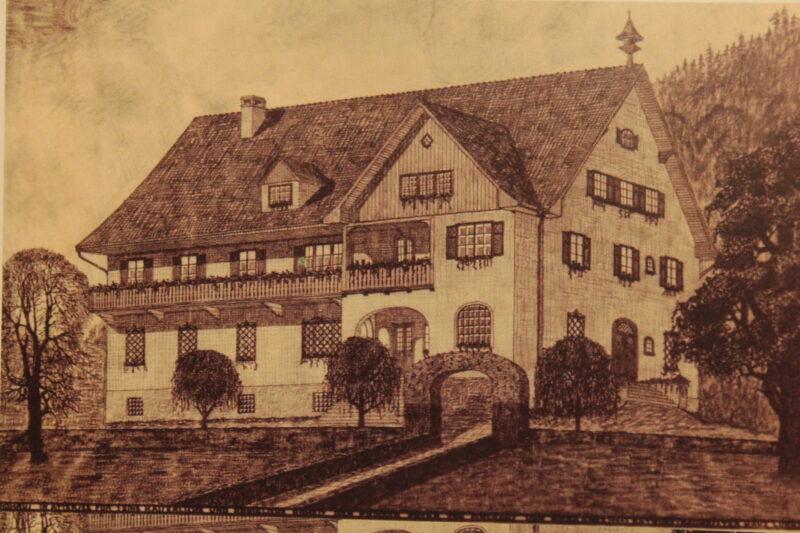Foto Villa Orleans, Postkarte um 1928 (Heimatverein Attersee)