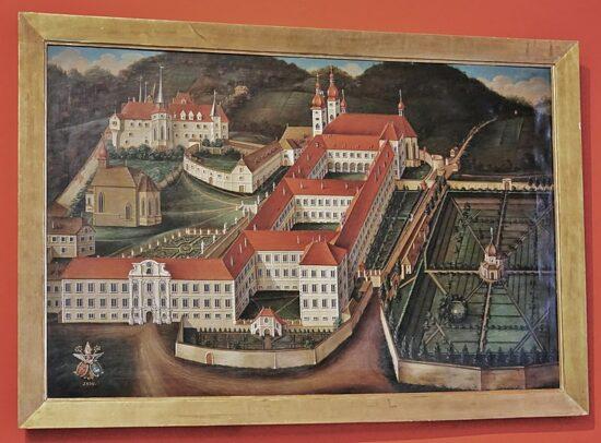 St.Lambrecht Stiftsansicht 1839  ©Autorin