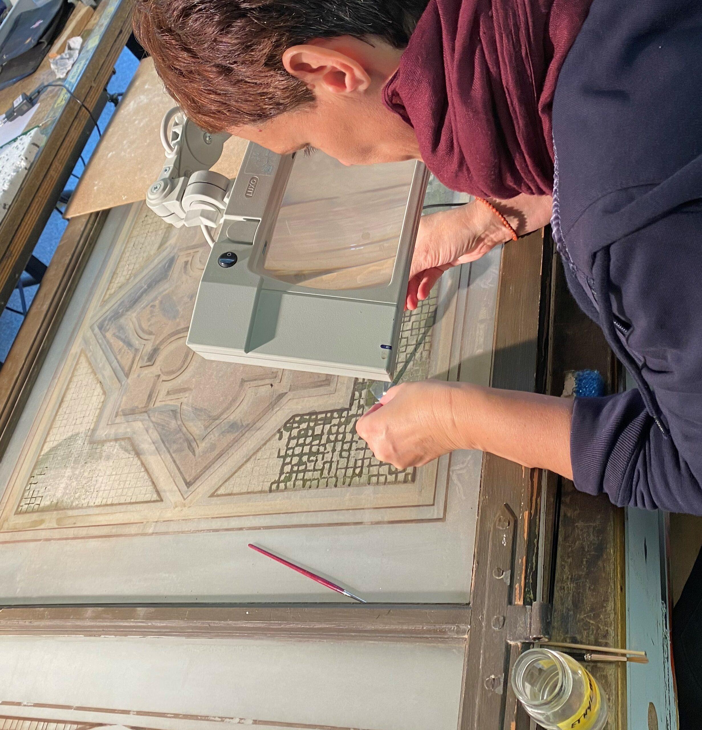 Festigung und Reinigung der Glasmalerei © Glasmalerei Peters