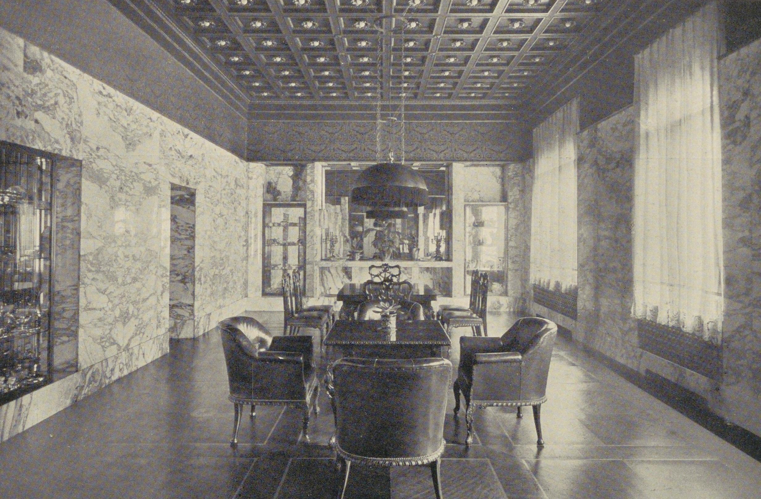 Speisesalon, Ansicht 1916 © Wienbibliothek im Rathaus