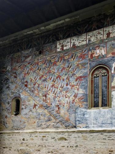 Darstellung der Himmelsleiter im Kloster Sucevita