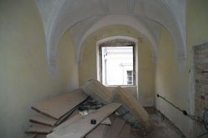 Renaissancehaus Stein, Stichkappengewölbe mit Stuckbändern