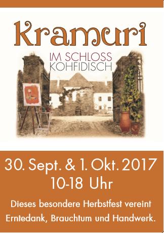 Plakat Kramuri Schloss Kohfidisch